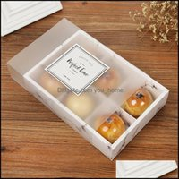 Bins Storage Housekee Organization Home & Gardentransparent Frosted Mooncake Cake Pack Box Dessert Arons Pastry Packaging Boxes Owf8791 Drop