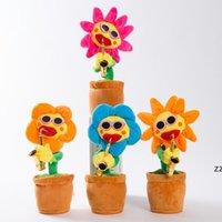 Tanz Sonnenblumen Niedliche Bezaubernde Plüsch Musik Spielzeug Handgemachte Lumineszenz Elektrische Bezauberungen Blumen Roman Stil HWB7813