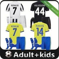 2021 2022 유벤투스 성인 축구 유니폼 호나우두 Dybala Morata Chiesa McKennie 축구 키트 셔츠 21 22 Juve Men Kids Universey