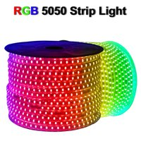 RGB AC 110V LED Strip Outdoor Waterproof 5050 SMD 10M 20M 30M 40M 50M Neon Rope Light 60LEDs M With POWER SUPPLY, Cuttable At 1Meter Via In Stock