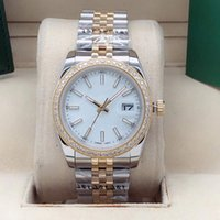 Stylish high quality men women automatic watches 36mm and 41mm diamond bezel sapphire face stainless steel folding buckle waterproof