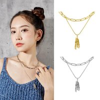 Pendant Necklaces Stars Long And Women's Pairs Wear Detachable Pendants Exaggerate Hipsters' Sweater Chains Necklace