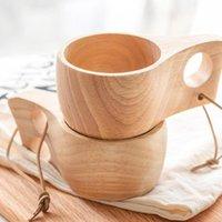Becher Vintage Handgemachte Gummi Holz Tee Milchtassen Wasser Trinkbecher Geschenk Wandern Camping Outdoor Tragbare Holzkaffee