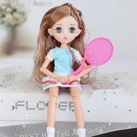 26cm Puppe kleines Mädchen Sport Stil Kleid 11 Gelenkpuppen Prinzessin Spielzeug Fahion Dress Up Schönheit Haar DIY Spielzeug Geschenk für Mädchen