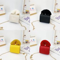 girls designer handbags fashion children letter PU Leather mini change purses winter kids chain casual one shoulder bags woman 1333 B3