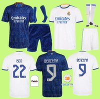 Взрослые дети 21 02 03 Real Madrid Soccer Jersey Kits 2021 2022 Sergio Ramos Haizard Jovic Vinicius Benzema Modric Footbool рубашки ребенка Unifor