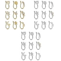 Earrings & Necklace Nose Cuff Non Piercing Clip On Fake Rings Hoop For Women Girls Jewelry