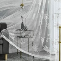 Curtain & Drapes White Embroidery Tulle Curtains Screens European Style Voile Sheer For Bedroom Living Room Windows Rideaux Voilage