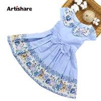 Artishare meninas vestido primavera verão floral crianças adolescente princesa casamento festa es 6 8 10 12 14 ano 210730