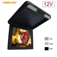 """Car Video FEELDO DC12V 11.3"""" Roof Mounted TFT LCD Monitor 2-Way Input 11.3 Inches Flip Down Car Bus Truck 3-Color #1284"""