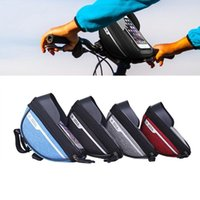 Cell Phone Mounts & Holders Cycling Bicycle Bike Head Handlebar Mobile Bag Case Holder Screen Bags Portable Waterproof For 6.4in
