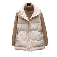 Women's Vests 2021 Down Cotton Body Warm Vest Coat Winter Ladies Casual Waistcoat Female Sleeveless Long Jacket Slim