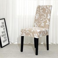 Chair Covers Floral Printed Cover Dining Elastic Spandex Stretch Seat Anti-dirty Removable 1 2 4 6piece