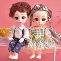 16 cm mode jolie poupée jouets pour filles maquillage 3D gros yeux cheveux longs beaux princesse poupées plastique bricolage kidstoï