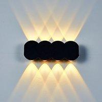 Nowoczesne minimalistyczne oświetlenie wewnętrzne na zewnątrz wodoodporne lampy ścienne LED przejść korytarze doorski werki nocne