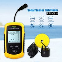 Echo-Sounder Sonar Fishfinder FF1108-1 Wassertieftemperatur mit verdrahteten Sensor-Wandler Fischfinder