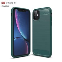 Brushed carbon fiber Cell Phone Cases For iPhone 11 12 Pro Mini X Xr Xs Max 6 6S 7 8Plus and Samsung S21 S20 S10 S9 Plus S8 Note 20 10 9 8