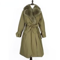OFTBUY 2021 New Winter Women Windbreaker Natural Fox Fur Big Fur Collar Real Fur Coat Rex Rabbit Liner Detachable Streetwear
