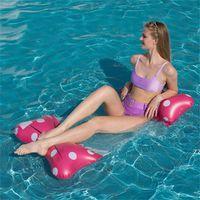 공기 풍선 활 스타일 플로팅 뗏목 의자 수레 튜브 환경 보호 접이식 다시 행 Sunshade 수영장 HWE8947