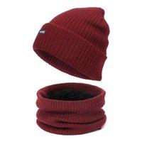 Scarf Hat Glove Set Women Men Hat Beanies Knitted Skullies Hats Winter Female Warm Wool Crochet Caps Unisex Bonets with Lining H0923