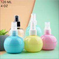 30 pcs 120 ml rose jaune jaune rond plastique de parfum flacon cosmétique liquide distribution conteneur eau nouvel emballage beautygoods