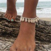 الأزياء الأوروبية الأمريكية العصرية خلخال شاطئ الشاطئ خلخال الشرابة مع شخصية فريدة من نوعها والخلاق شل [فتح المتجر]