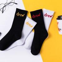 Unisex Smiley Draw Graffiti Письма Хлопок Носок Повседневная Ребристая вязать Лодыжки Высокая уличная Экипаж Спортивные Носки