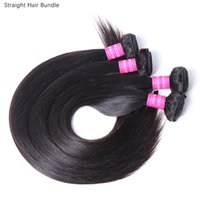 Wholesale Straight 4 Bundles Natural Black Color Brazilian Virgin Human Hair Weaves Full Head Indian Peruvian Malaysian Hair Extensions