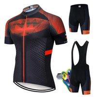 레이싱 세트 2021 사이클링 자전거 균일 한 여름 사이클링 조지 세트 도로 자전거 유니폼 MTB 착용 통기성 사이클링 의류