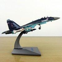 1/144 Escala Soviética União Navy Army Su35 Fighter Aviões Rússia Avião Modelos Adultos Crianças Brinquedos Para Mostrar Mostrar Coleções