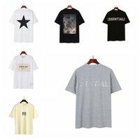 21SS 여성 망 디자이너가 하나님의 필수품에 대한 안개 두려움을 끄는 흰색 T 셔츠 럭셔리 티 브랜드 탑 후드 얼굴 북쪽 자켓 ESS Supre Shirt 30