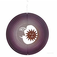 Wind Spinner Stainless Steel Metal Wind chimes Hanging Garden Decoration for Indoor Outdoor Garden Ornaments Creative sea shipping T2I52021