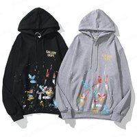 Sweat à capuche lâche pour hommes Sweats à Hoodies All-match Street Graffiti Automne Pull occasionnel