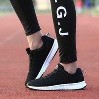 Top Calidad Mujeres y hombres caminando zapatos deportivos ligeros resistentes a la resbalón cómodos zapatillas salvajes zapatos de punto transpirables para entrenadores Tamaño 36-45