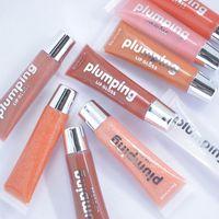 En stock !! Hidratante de lápiz lipgloss Cherry Glitter Lip Gloss Plumper 9 Colores Nutritivo Lápiz labial Aceite mineral Clear