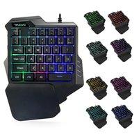 Professiona Wired Gaming keyboards RGB LED Backlight keypads 35 Keys One-handed Membrane Keyboard mecanico backlit gamer Keypad