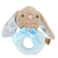 Rattles Mobiles Hand Ringing Bell Baby Plush Toys 0-1 Years Old Bebe Kid Beep Stick Grasping Holding Pacifying Newborn Squeeze Funny Rabbit Doll Plaything