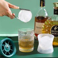 ويسكي الجليد الكرة العفن كبيرة جولة الكرة المنزل علبة الجليد صانع سيليكون مع غطاء الجليد العفن كروية المجمدة مكعب العفن أدوات المطبخ