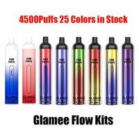 Authentic GLAMEE Flow Disposable E-cigarettes Pod Device Kit 4500 Puffs 2200mAh Battery 16ml Pre-filled Pods Cartridges Stick Vape Pen 100% Genuine Vs Max Bar Switch