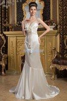 Bridesmaid Dress 2021 Design Cap Sleeve Fashion Handmde Flwer Mermaid Small Train Custom Size color White ivory