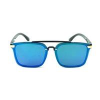 Kindergröße Kunststoff Square Pilot Sonnenbrille Übergroße Linsen Design Vorderseite des länglichen Rahmens coole Gläser für Jungen und Mädchen