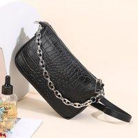 Evening Bags Design Baguette Crocodile Pattern Underarm Handbag Chain Shoulder Bag For Women Purse 01-SB-fgewyx