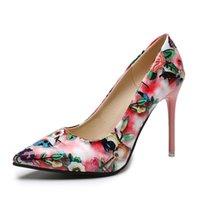 Dress Shoes Women Pumps Fashion Classic Patent Leather High Heels Nude Sharp Head Paltform Wedding Plus Size 35-44
