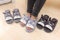 Schattige totoro cartoon winter pluche paar schoenen mooie thuisvloer antislip slaapkamer bewaren warme zachte slipper vrouwen mannen slippers