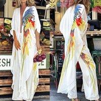 Women's Swimwear Plus Size Summer Retro Floral Kimono Long Sleeve Chiffon Blouse Casual Loose Beach Wear Cover Up Shawl Cardigan Shirt Women
