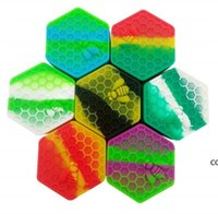 Atacado 26ml Comida Grau de Silicone Caixas de Silicone Recipiente Não-Stick Jars Dab Recipientes de Silício Caso de silicone para vaporizador DHF8422