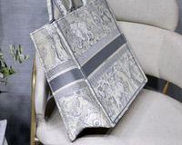 탑 오리지널 자수 품질 Luxurys 디자이너 가방 호보 수 놓은 호랑이 패턴 대용량 쇼핑백 핸드백 핸드 메이드 양면 꽃
