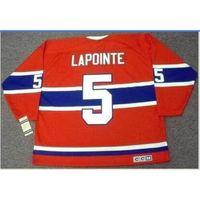 Custom bay youth women vintage # 5 Guy lapointe montreal canadesi 1971.1978 ccm hockey jersey taglia S-5XL o personalizzato qualsiasi nome o numero