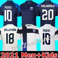 2021 Finlande Team National Hommes Jerseys Soccerys Pukki Skrabb Raitala Pohjanpalo Kamara Sallstrom Jensen Lod Home Away Football Chemise Uniformes 20 21 Maillot de pied