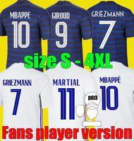 Fans Spielerversion 2021 2022 Frankreich MBAPE GRIEZMANN Fussball Jersey 21 22 Kante Thauvin Fußballhemden Pogba MAILLOT DE Fußgröße S - 4XL